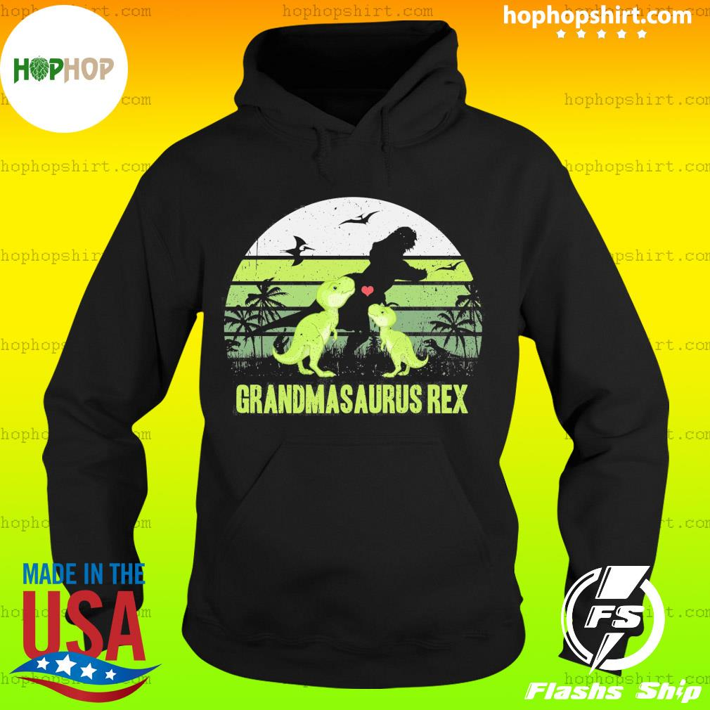 Dinosaur T-rex Grandmasaurus Rex Vintage Retro Shirt Hoodie