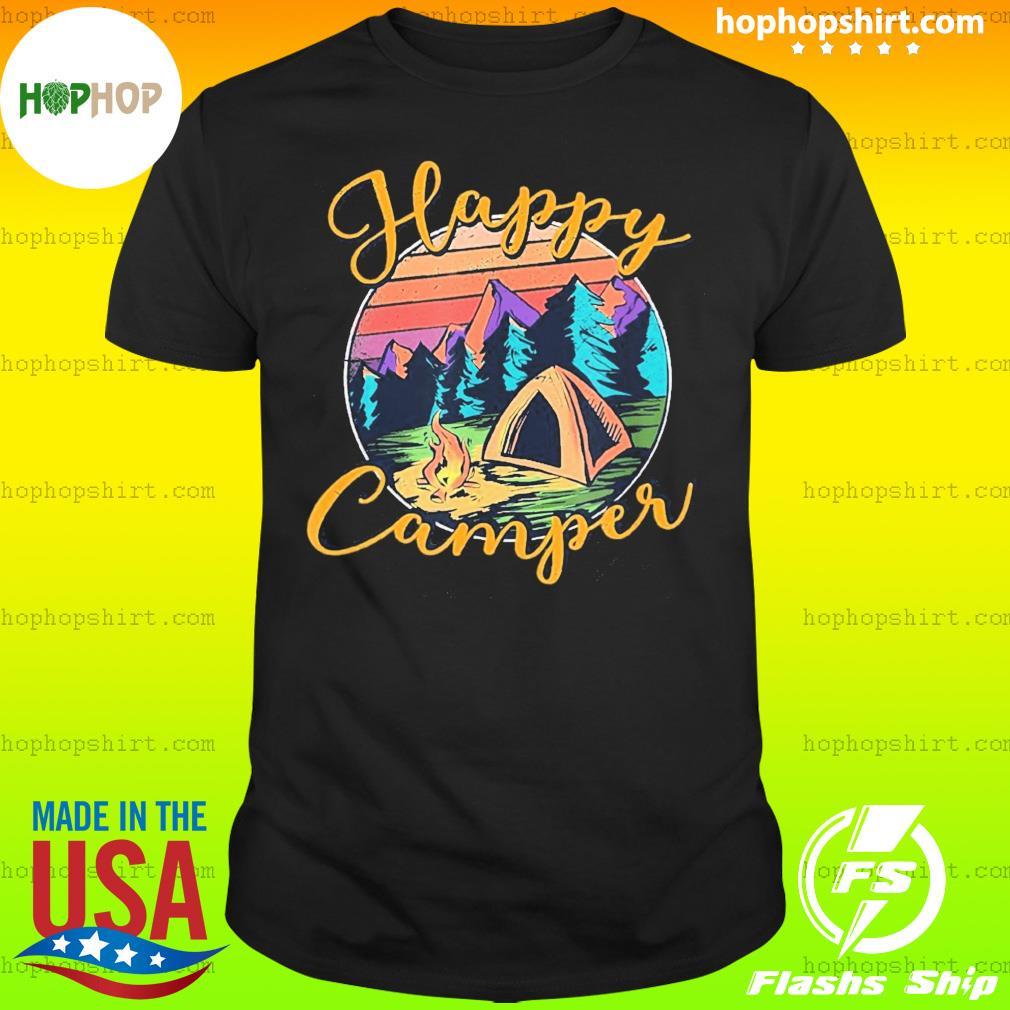 Camping Happy Camper Vintage Retro Shirt