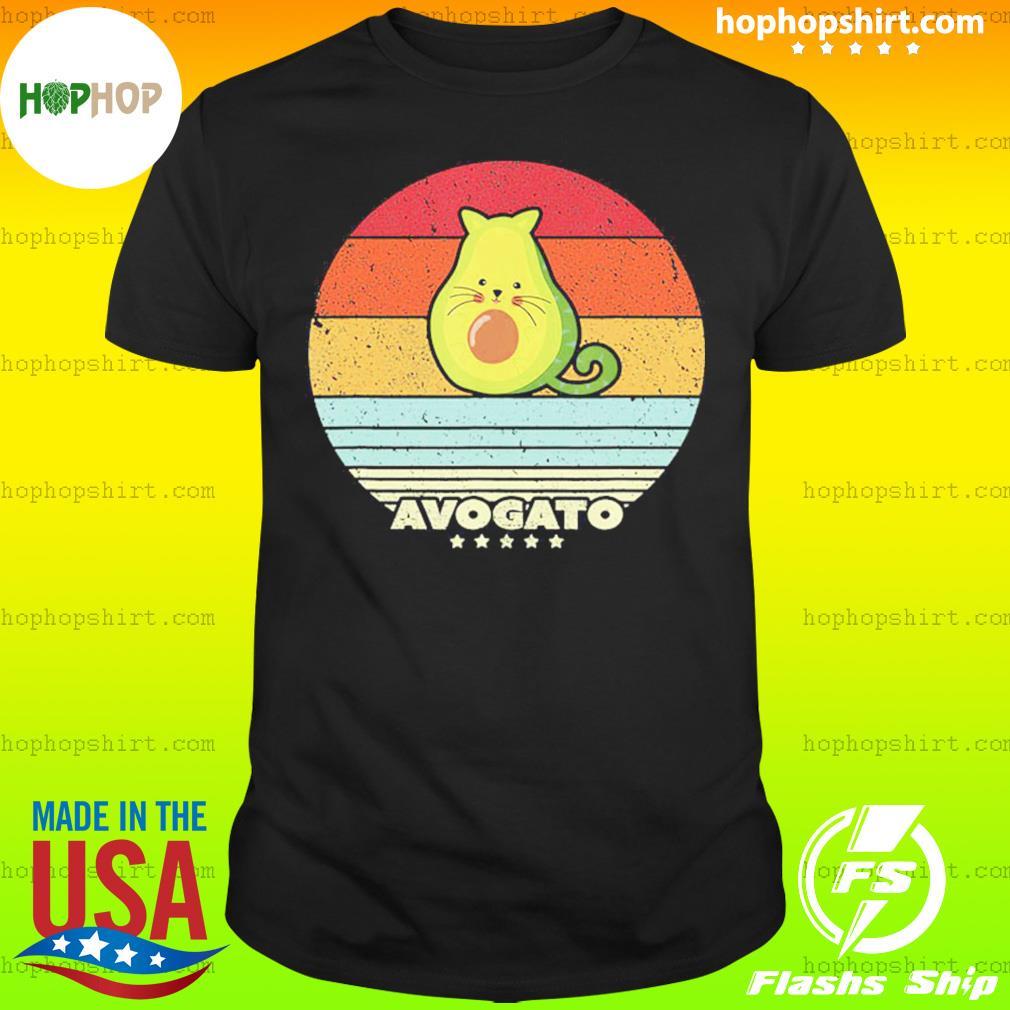 Cat Avocado Avogato Vintage Retro Shirt