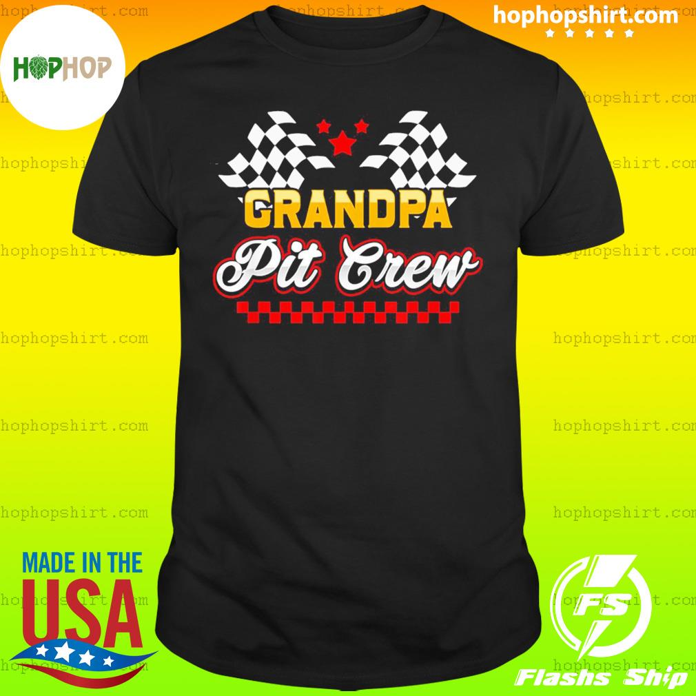 Grandpa Pit Crew for Racing Party T-Shirt