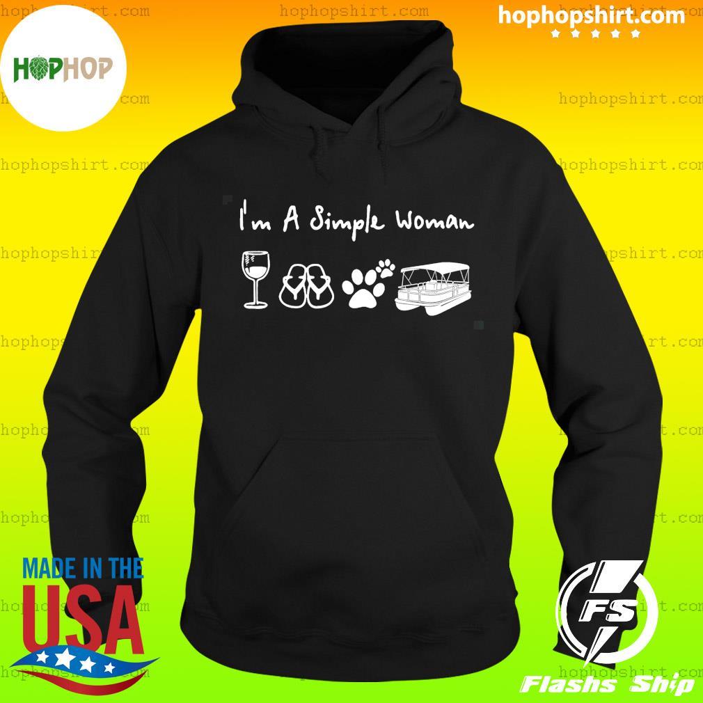 I'm a simple woman pontoon win-e dog shirt phq ngt Classic T-Shirt Hoodie