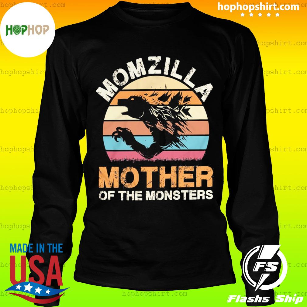 Momzilla Mother Of The Monsters Vintage Retro Shirt LongSleeve