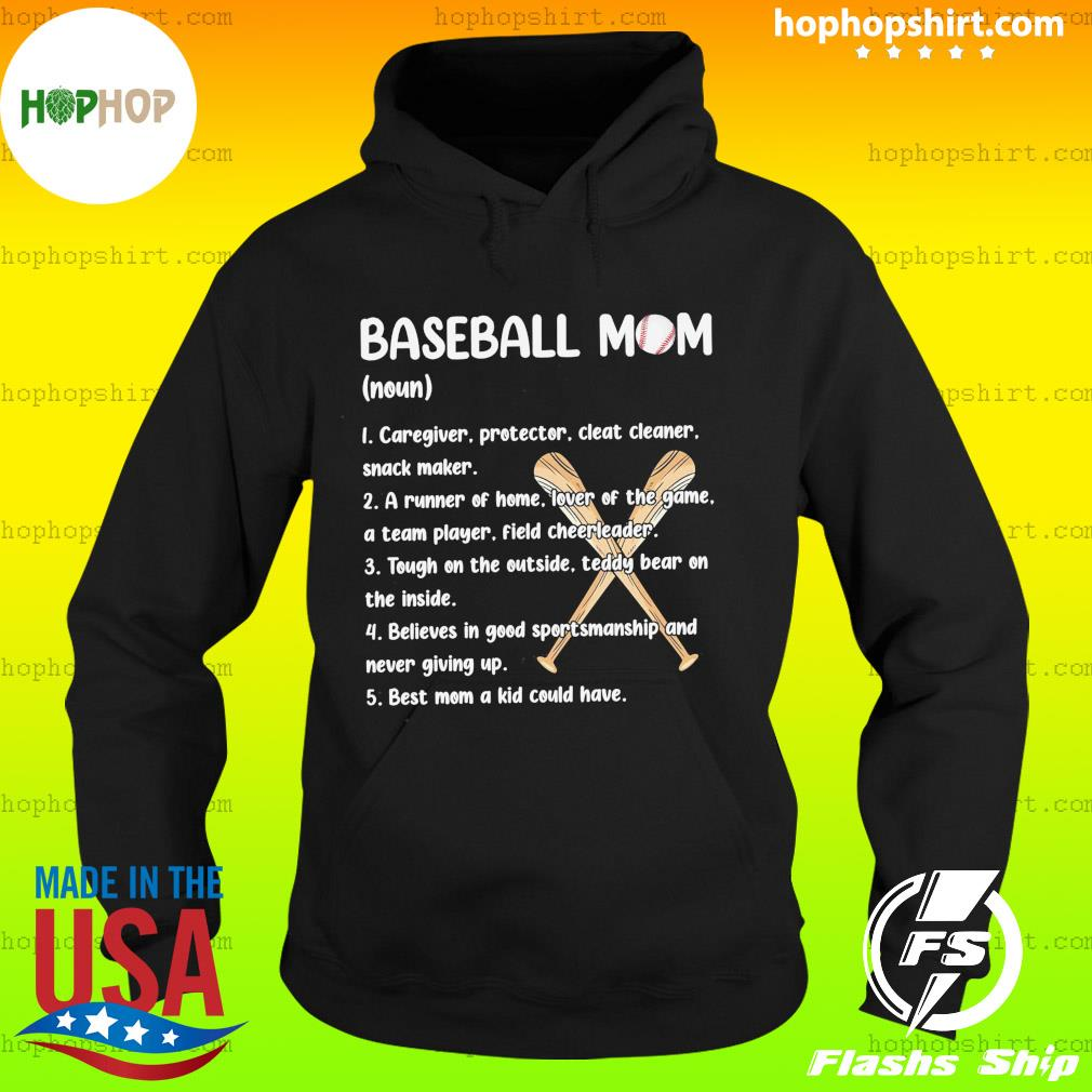 Baseball Mom Caregiver Protector Cleat Cleaner Snack Maker Shirt Hoodie