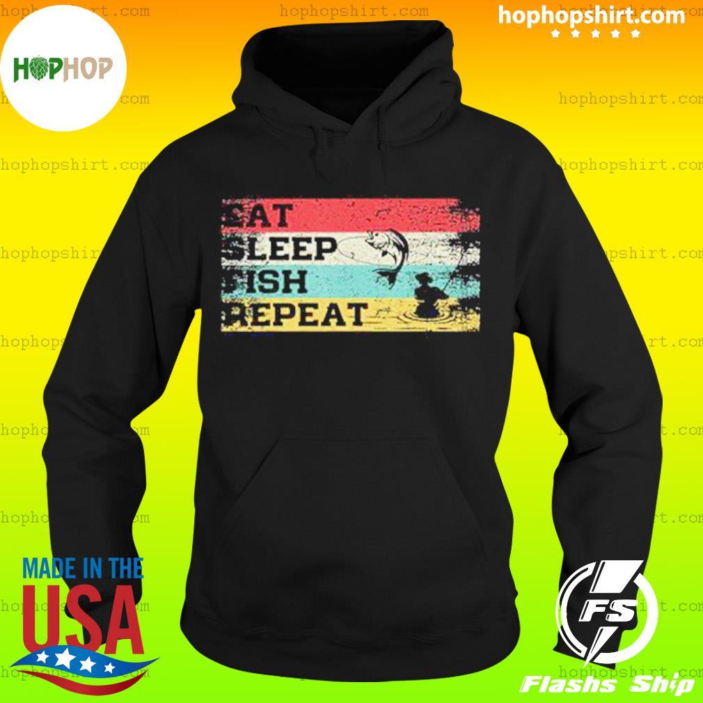 Fishing Eat Sleep Fish Repeat Vintage Shirt Hoodie