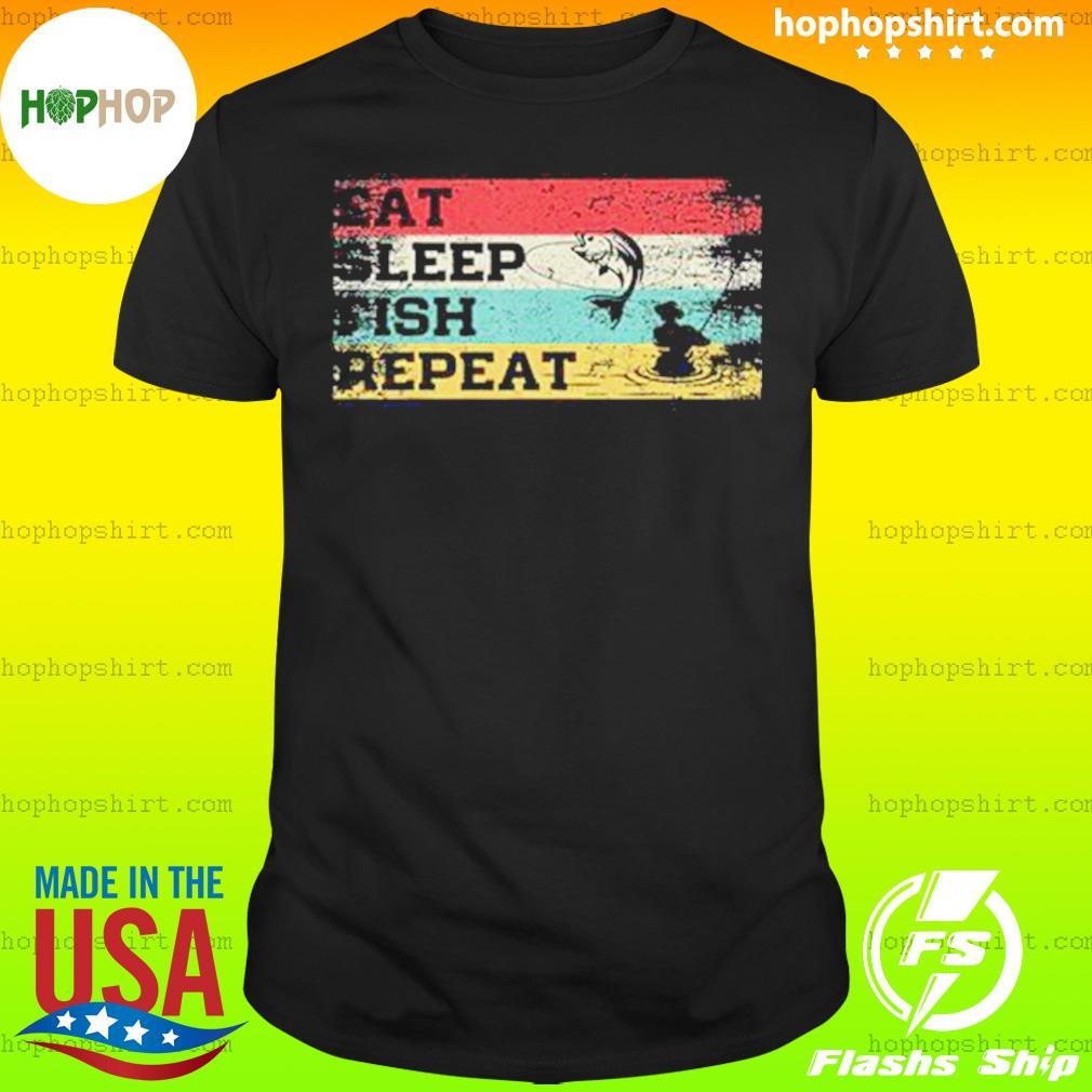 Fishing Eat Sleep Fish Repeat Vintage Shirt