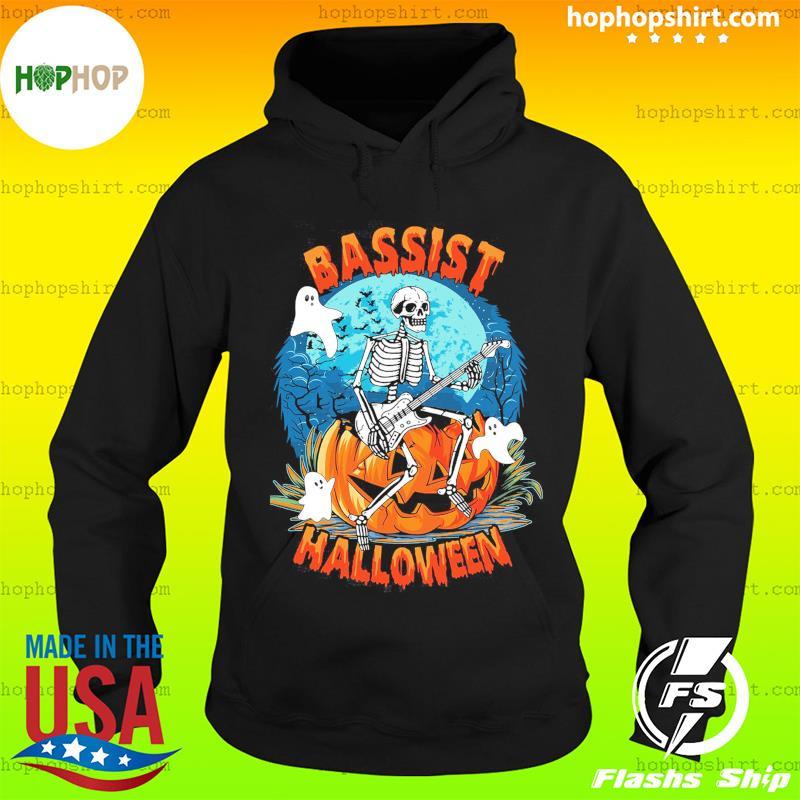 Skeleton Play Guitar Bassist Halloween Shirt Hoodie