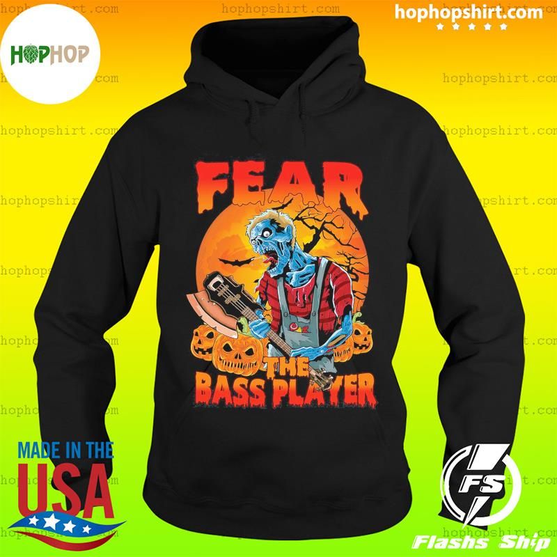 Zombie Play Guitar Fear The Bass Player Halloween Shirt Hoodie