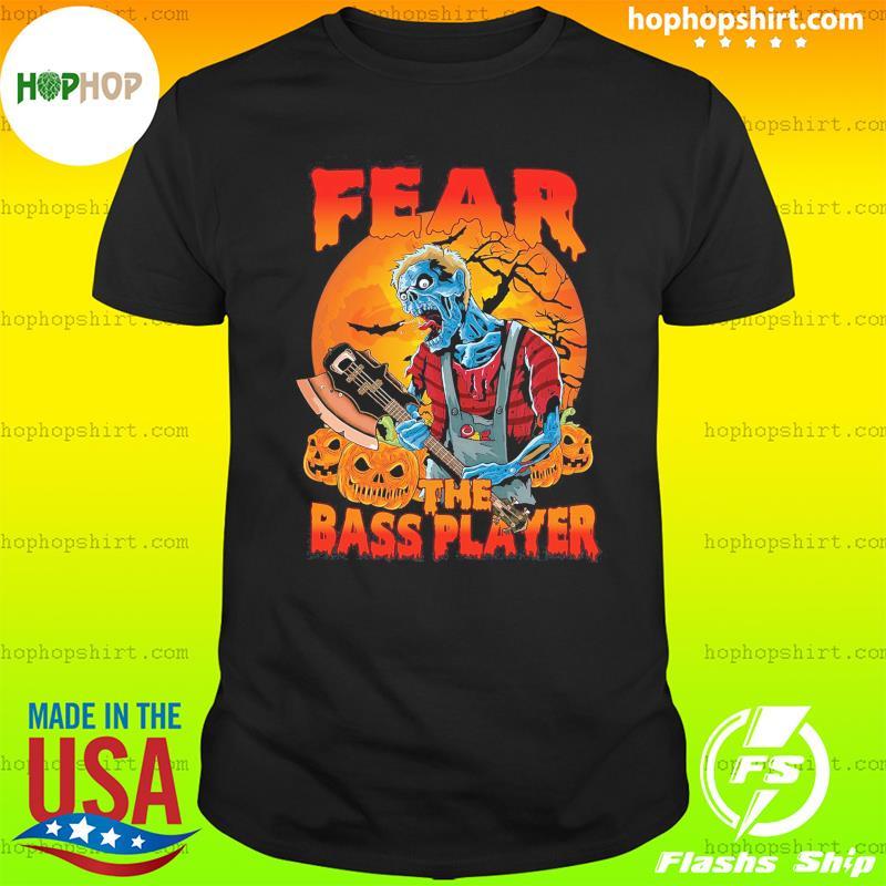 Zombie Play Guitar Fear The Bass Player Halloween Shirt