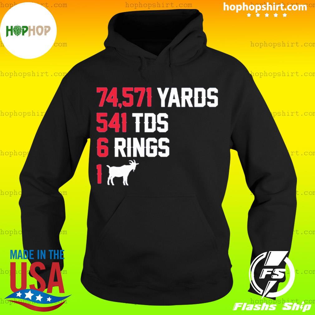74,571 Yards 541 TDS 6 Rings 1 GOAT s Hoodie