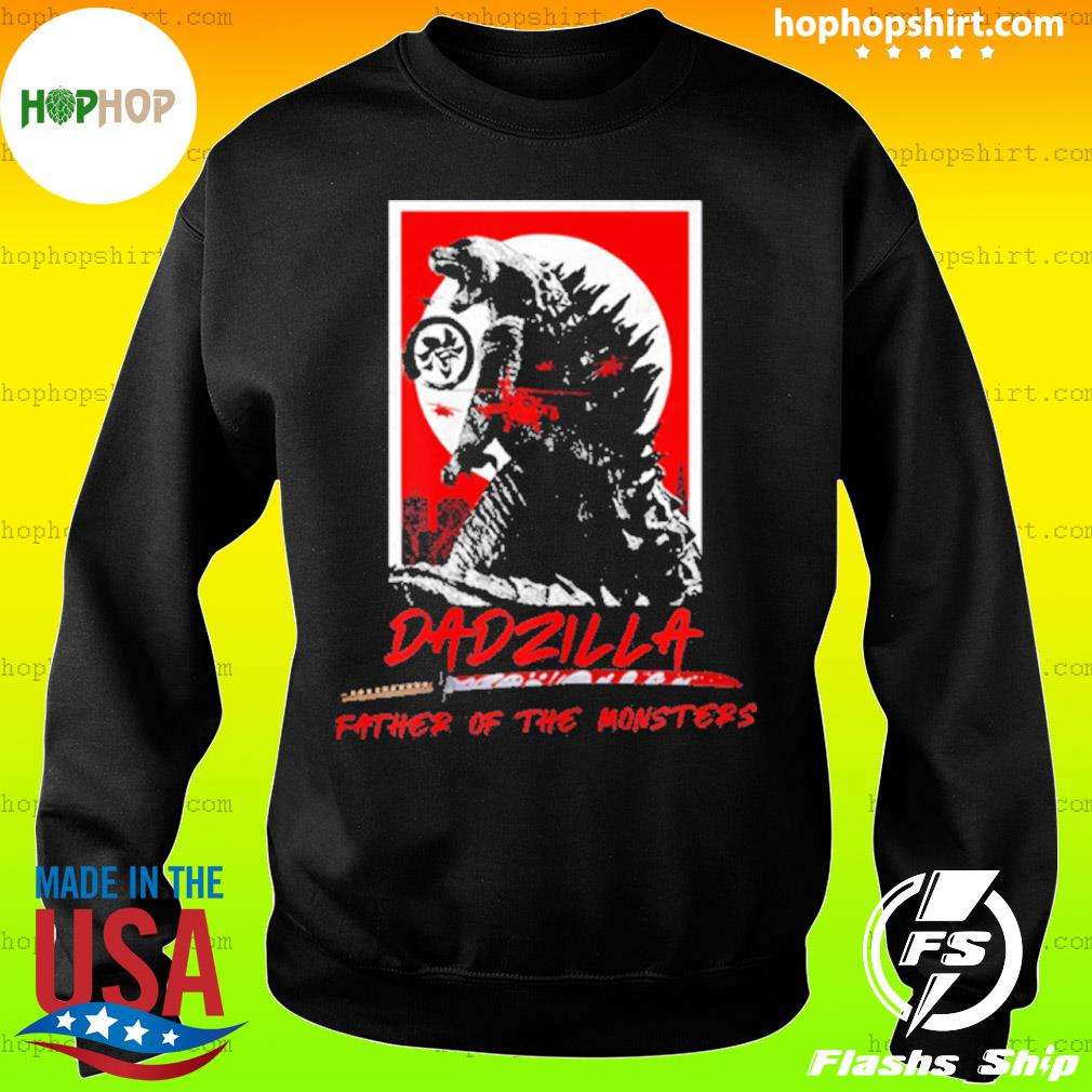 Dadzilla Father Of The Monsters Dinosaur Father Day s Sweater