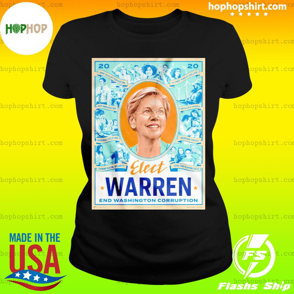 Elect Warren End Washington Corruption s Ladies Tee