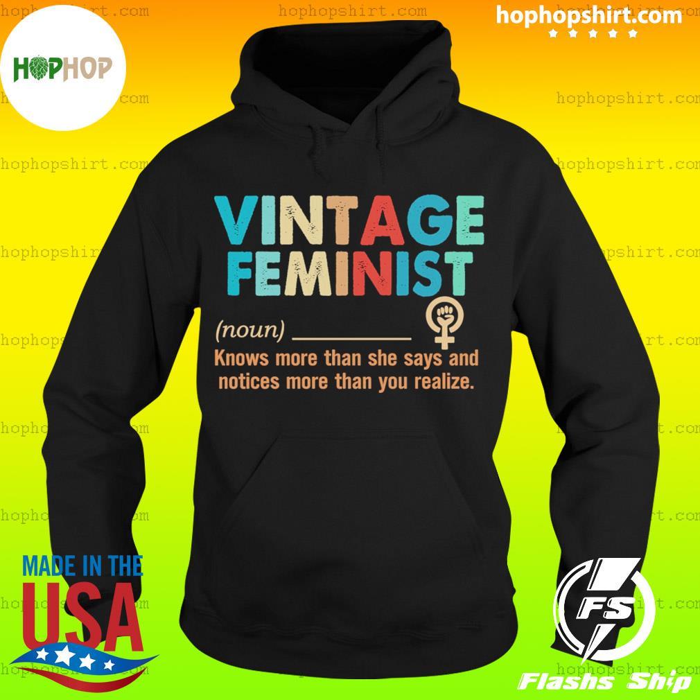 Vintage feminist definition s Hoodie