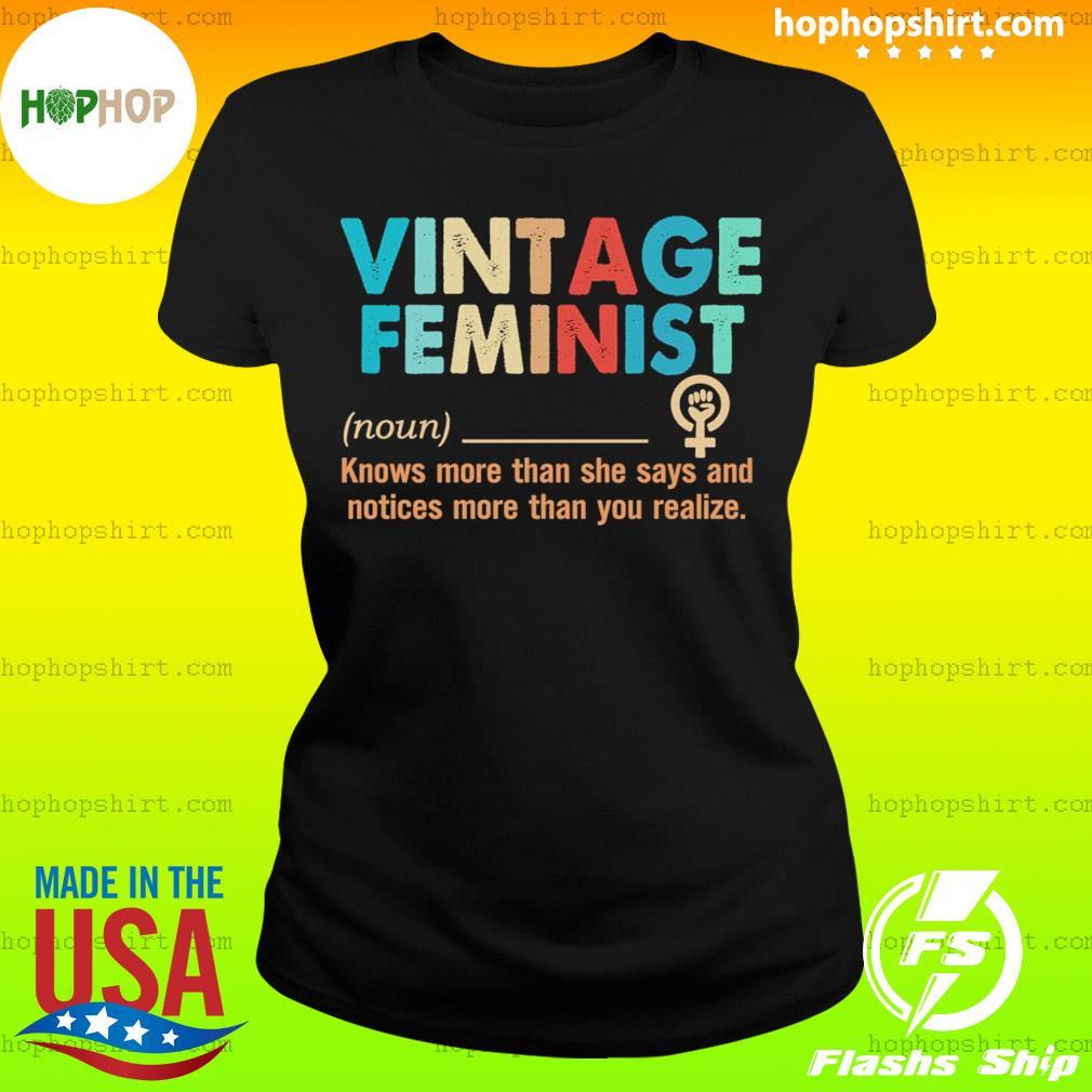 Vintage feminist definition s Ladies Tee