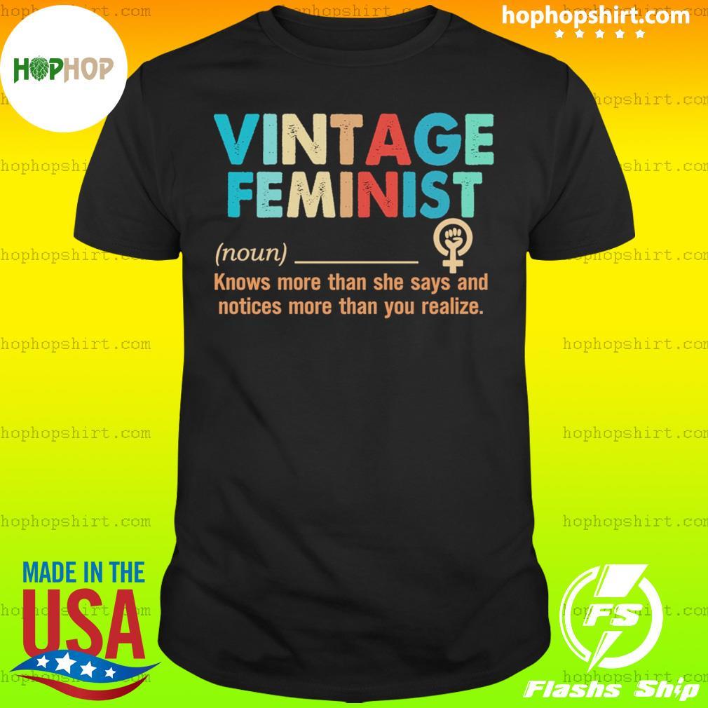 Vintage feminist definition shirt