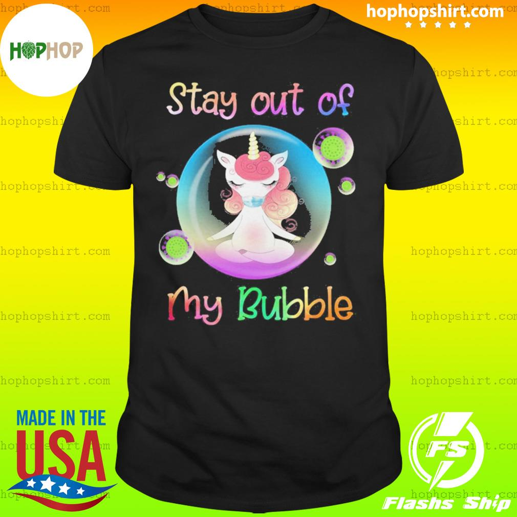 Unicorn yoga stay out my bubble coronavirus mask shirt
