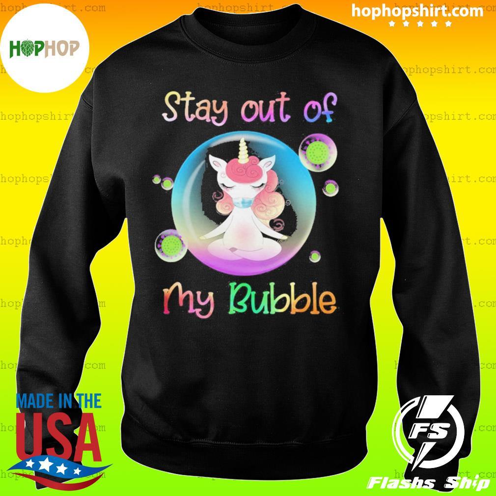 Unicorn yoga stay out my bubble coronavirus mask s Sweater