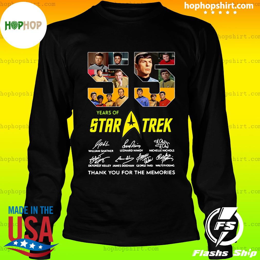 55 Years Of Star Trek Thank You For The Memories Signatures Shirt LongSleeve