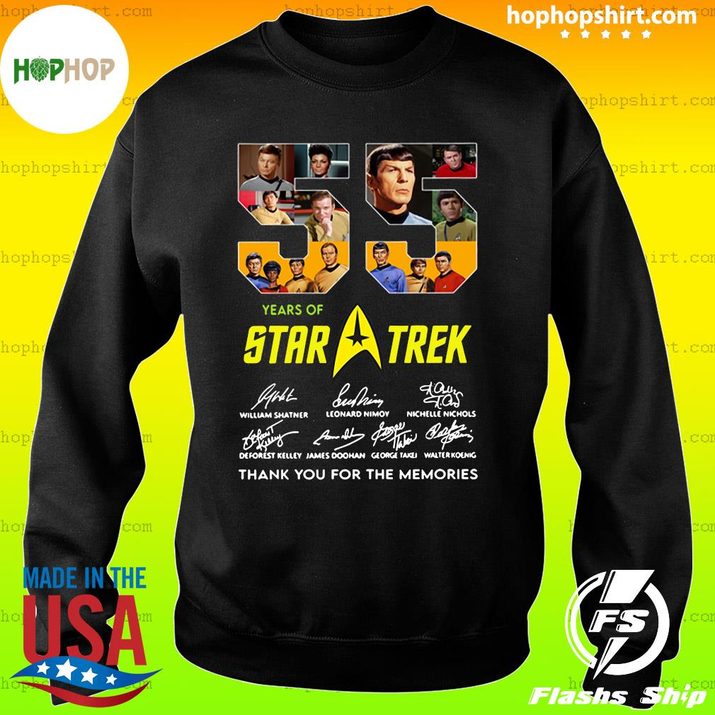 55 Years Of Star Trek Thank You For The Memories Signatures Shirt Sweater