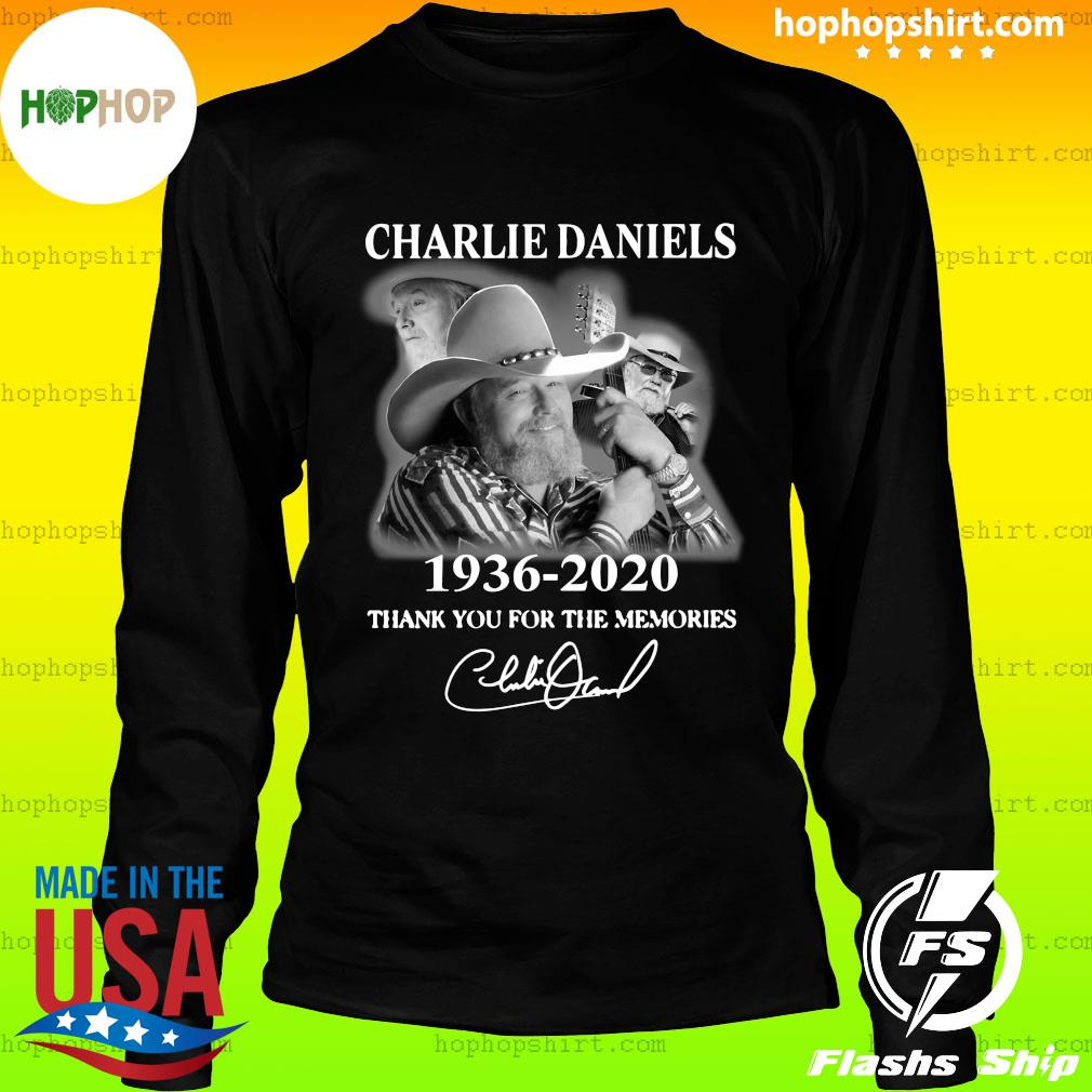 Charles Daniels 1936 2020 Thank You For The Memories Signature Shirt LongSleeve