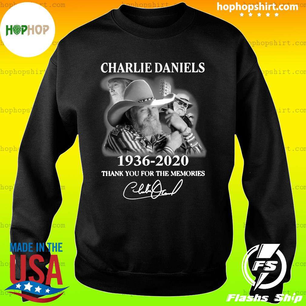 Charles Daniels 1936 2020 Thank You For The Memories Signature Shirt Sweater