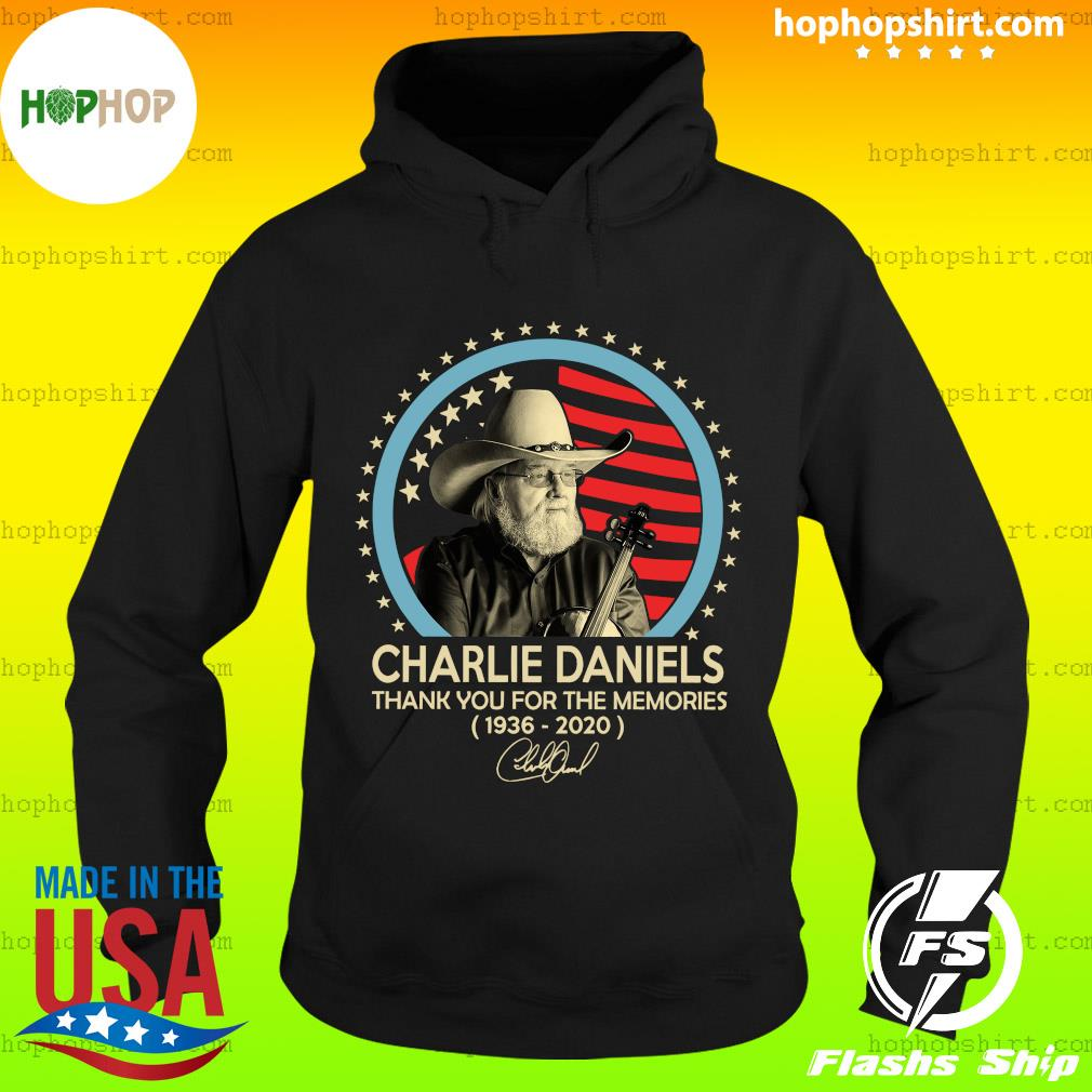 Charlie Daniels 1936 2020 Thank You For The Memories Signature Shirt Hoodie