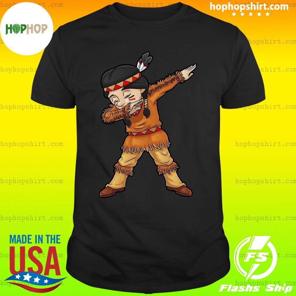 Dabbing Native American Pilgrim Shirt