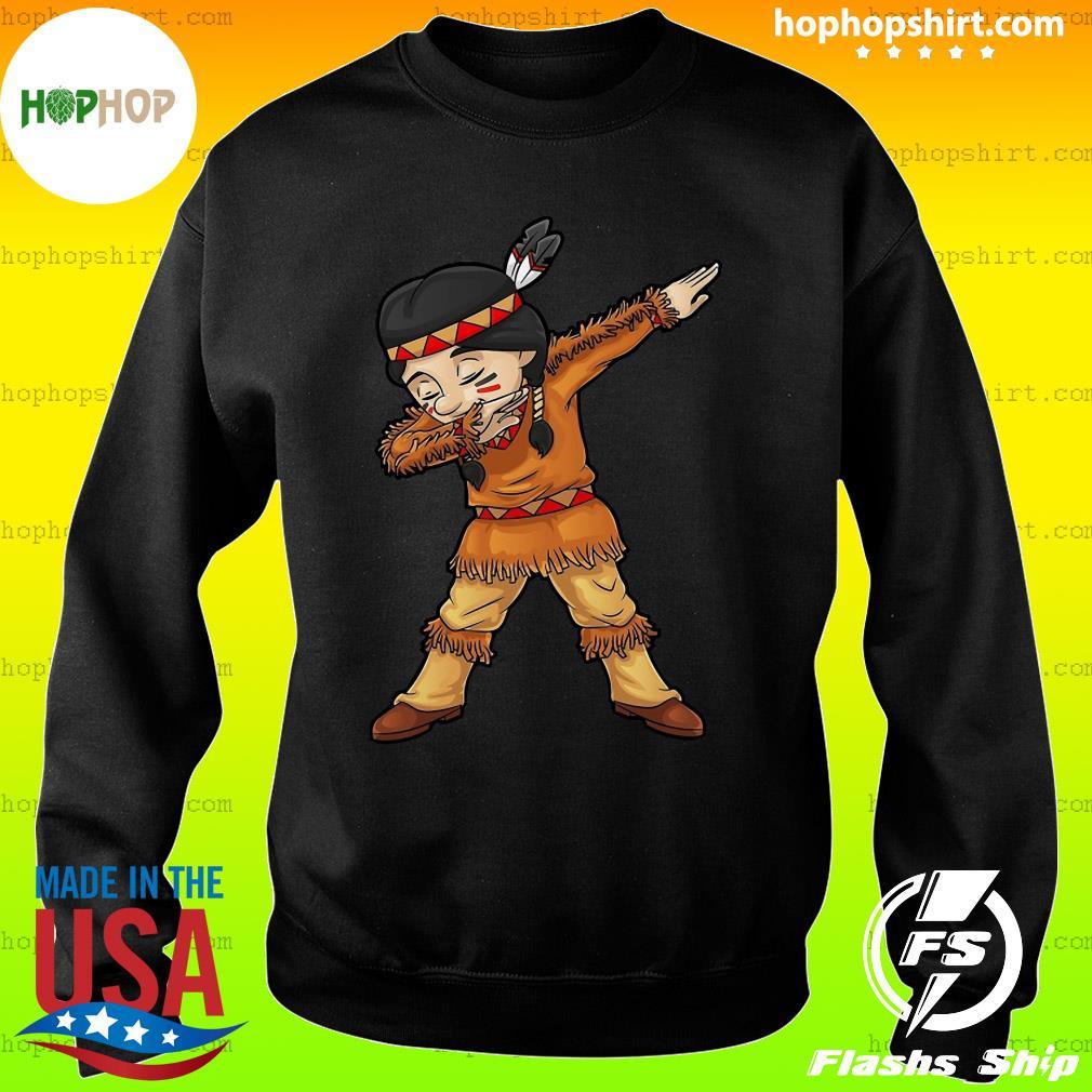 Dabbing Native American Pilgrim Shirt Sweater
