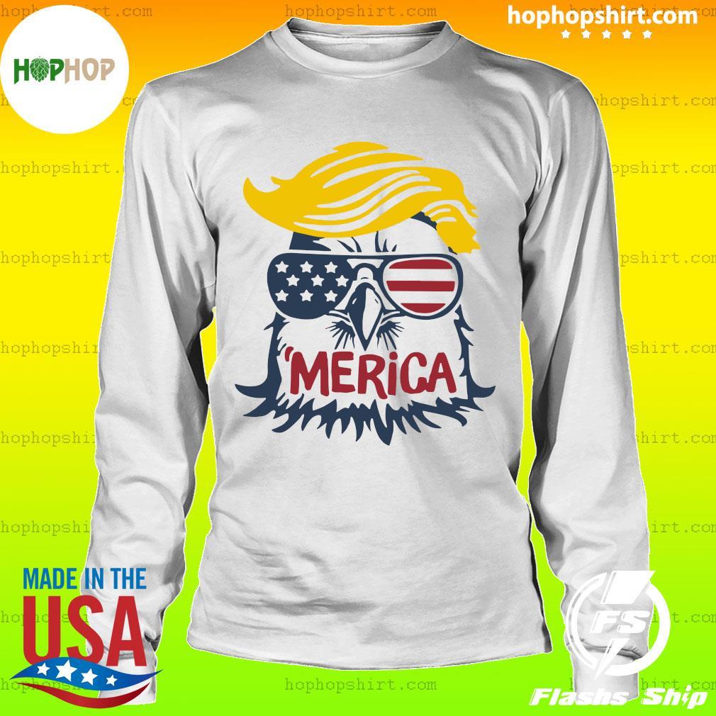 Donald Trump Eagle Merica Shirt LongSleeve