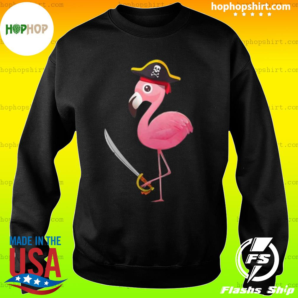 Funny Pirate Flamingo Shirt Sweater