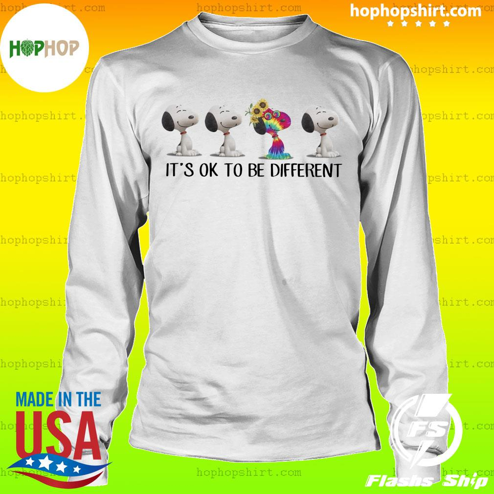 Hippie snoopy it's ok to be different sunflowers s LongSleeve