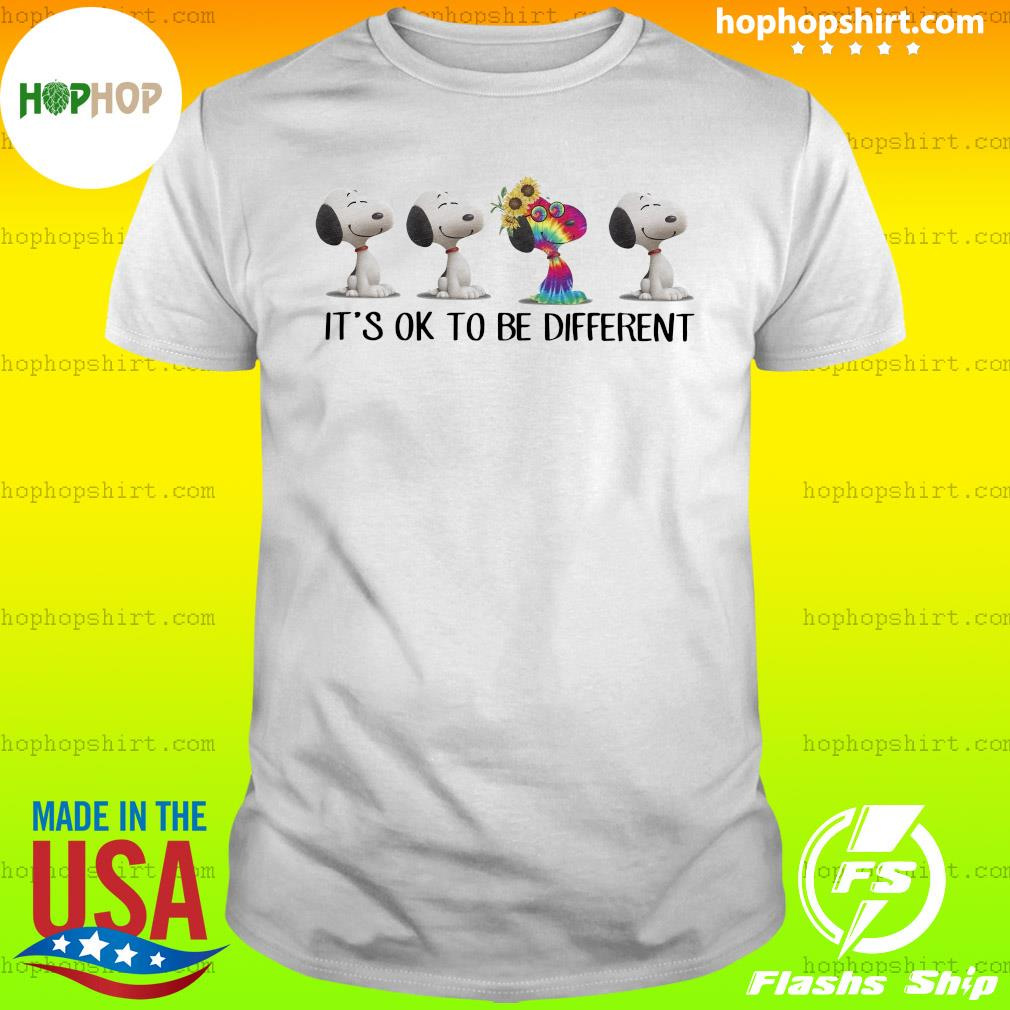 Hippie snoopy it's ok to be different sunflowers shirt