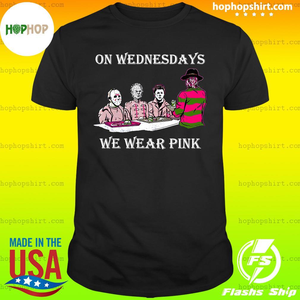 Horror Michael Myers On Wednesdays We Wear Pink Shirt