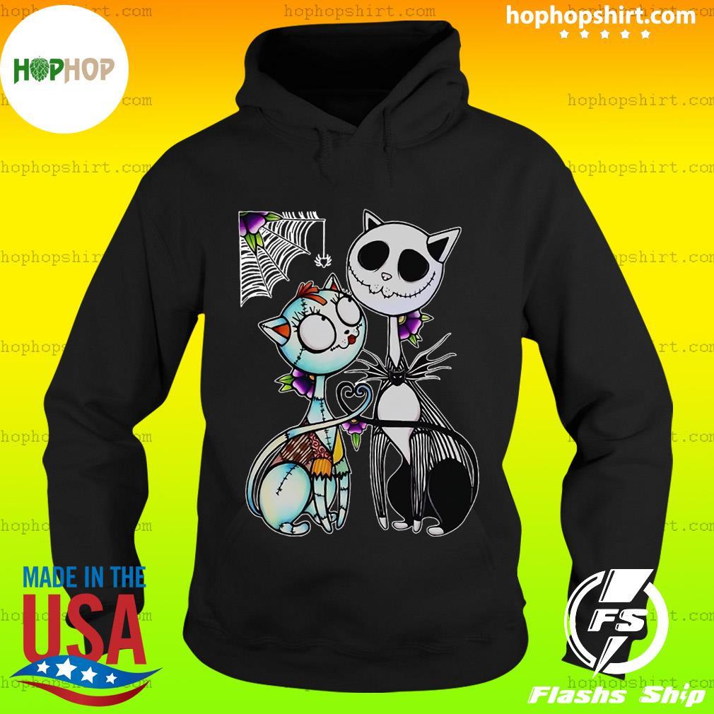 Jack Skellington and Sally cat Halloween s Hoodie