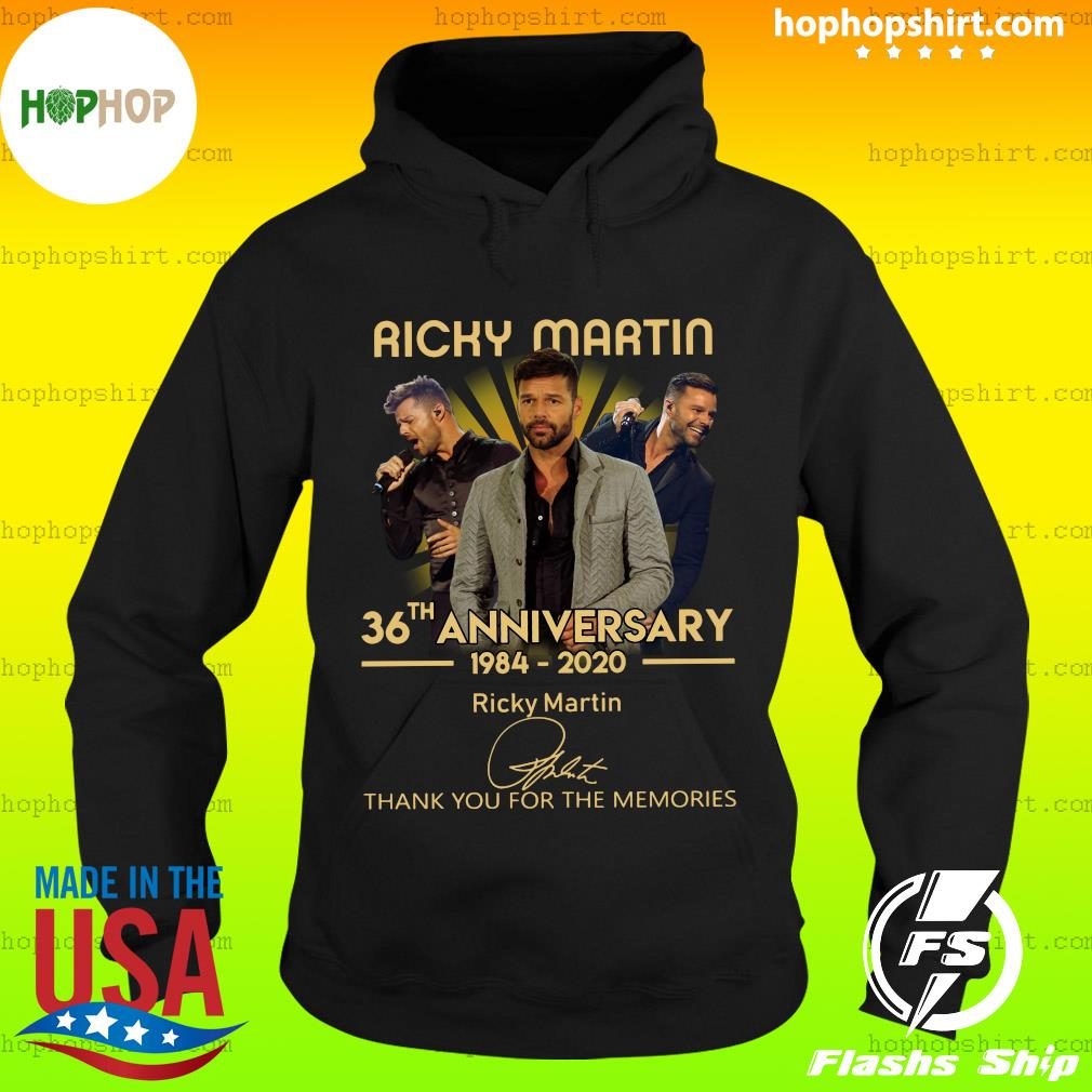 Ricky Martin 36th Anniversary 1984 2020 Thank You For The Memories Signature Shirt Hoodie