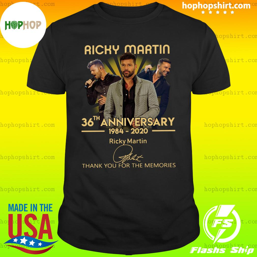 Ricky Martin 36th Anniversary 1984 2020 Thank You For The Memories Signature Shirt