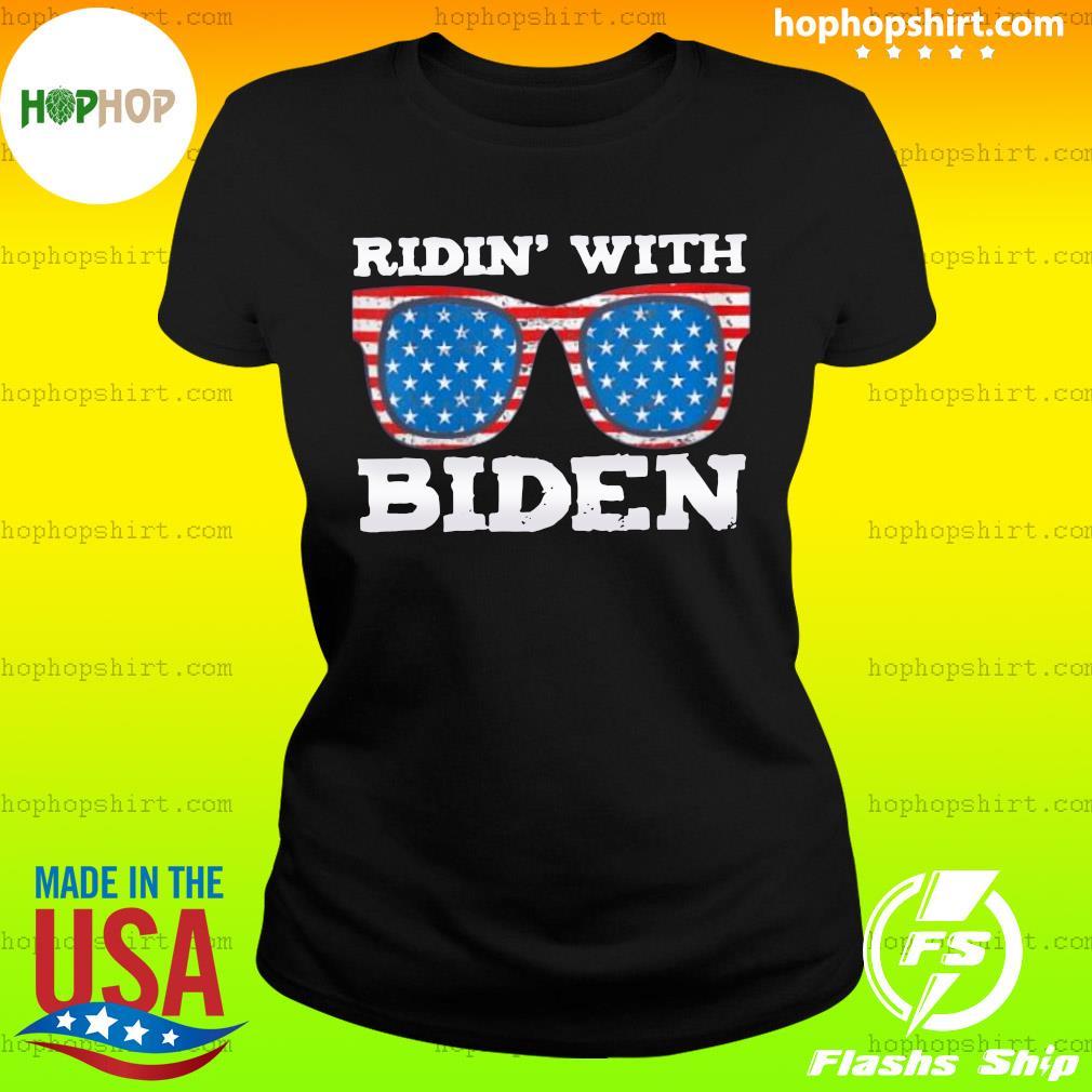 Ridin With Biden Joe Supporter USA Classic T-Shirt Ladies Tee