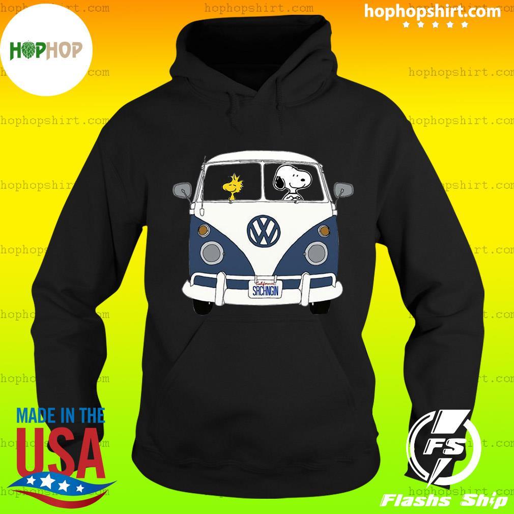 Snoopy Driving Hippie Car Volkswagen Beetle Shirt Hoodie