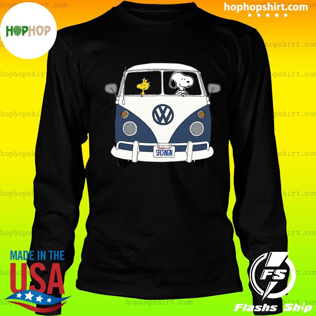 Snoopy Driving Hippie Car Volkswagen Beetle Shirt LongSleeve