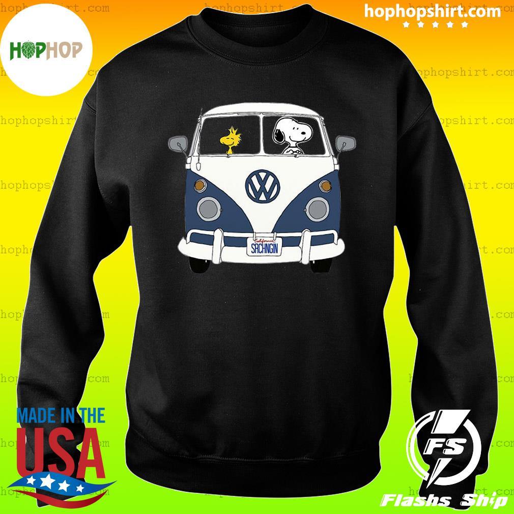 Snoopy Driving Hippie Car Volkswagen Beetle Shirt Sweater