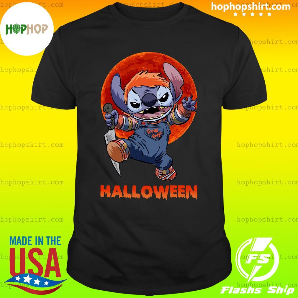 Stitch Good Guys Halloween Moon Shirt