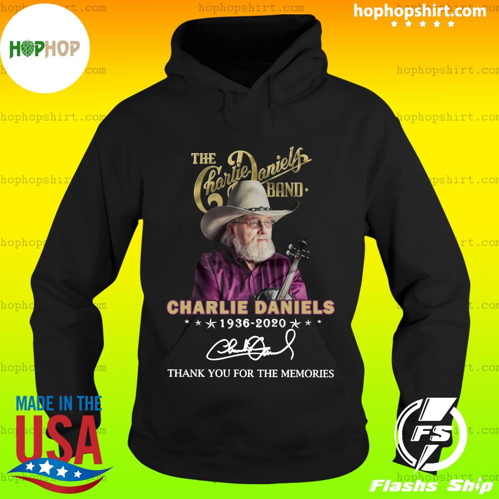 The Charles Daniels Band 1936 2020 Thank You For The Memories Signature Shirt Hoodie