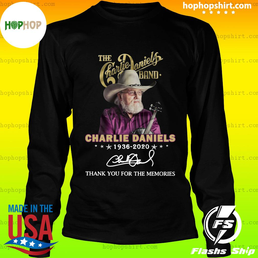 The Charles Daniels Band 1936 2020 Thank You For The Memories Signature Shirt LongSleeve