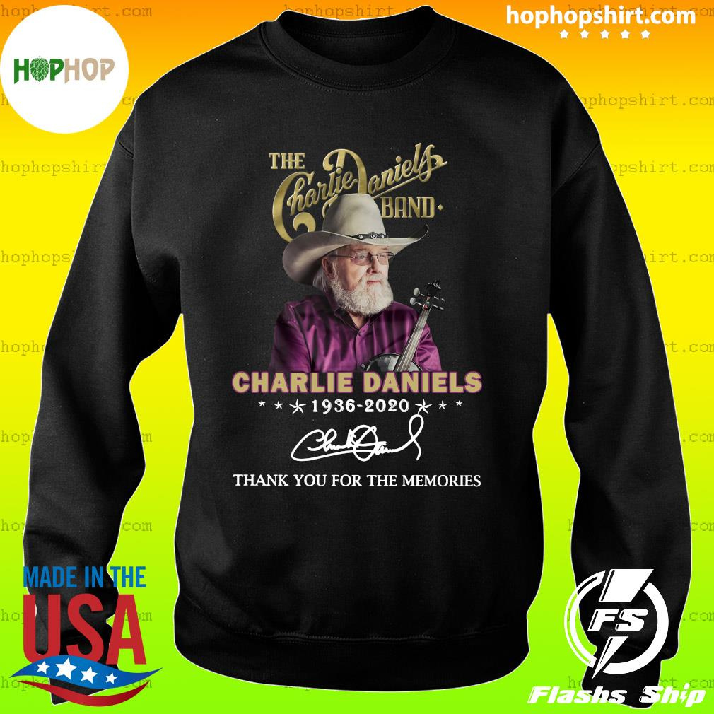 The Charles Daniels Band 1936 2020 Thank You For The Memories Signature Shirt Sweater