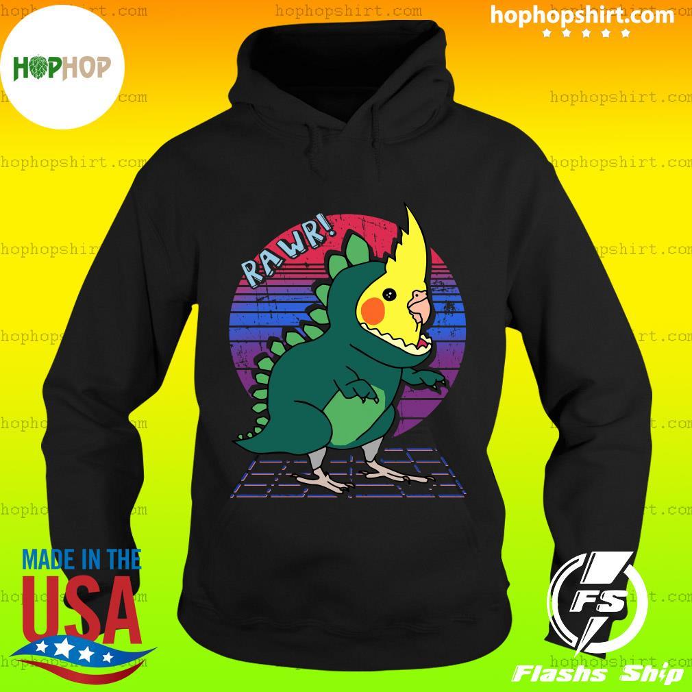 Vaporwave Cockatiel Dinosaur Shirt Hoodie
