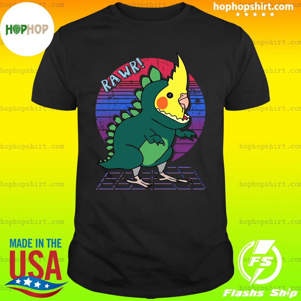 Vaporwave Cockatiel Dinosaur Shirt