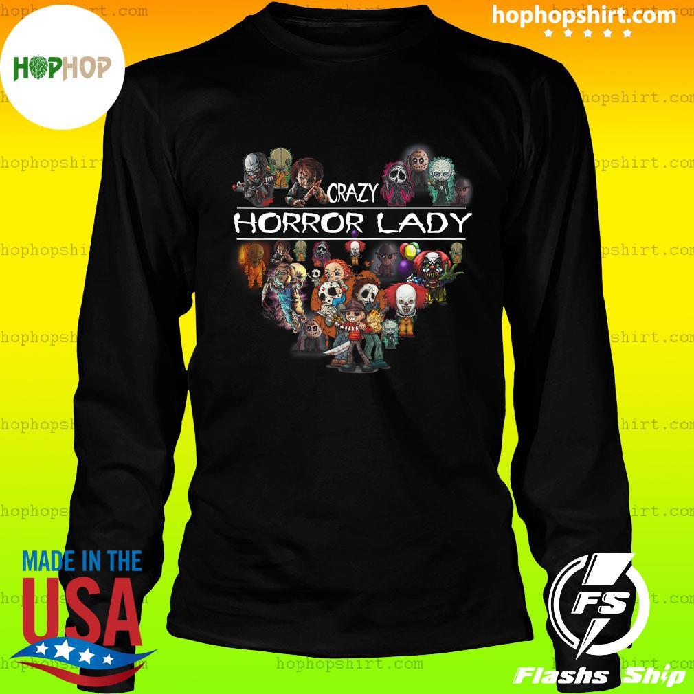 Crazy Horror Lady Heart Halloween Shirt LongSleeve