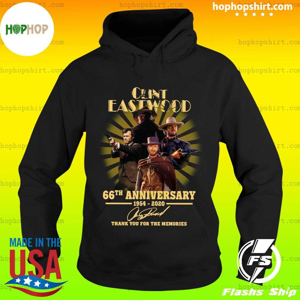 Cunt Eastwood 66th Anniversary Thank You For The Memories Signature Shirt Hoodie