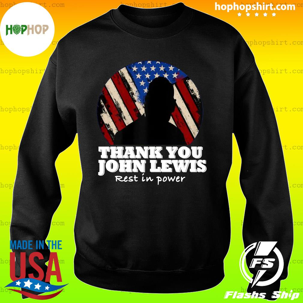 Distressed USA Flag Thank you John Lewis Rest in Power 2020 Shirt Sweater