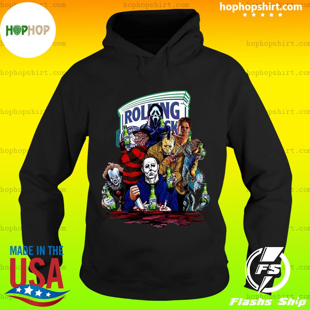 Horror Character Rolling Rock Shirt Hoodie