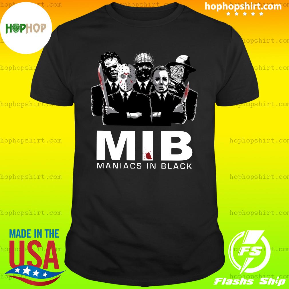 Horror MIB Maniacs In Black Shirt